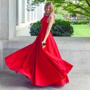Κόκκινο φόρεμα μακρύ